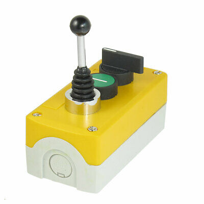 240V 3A NO 3-Position Selector Joystick Latching Push Button Switch Station
