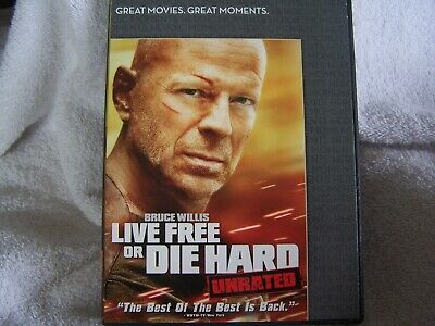 Die Hard 4: Live Free or Die Hard (DVD, 2007, Unrated Single-Disc Version)