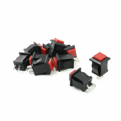 10 PCS Momentary Action Square Red On/Off Push Button Switch AC 250V/2A 125V/4A