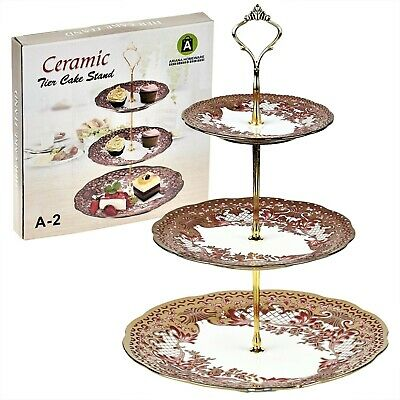Ariana® 3 Tier Vintage Floral Cake Stand Afternoon Tea Wedding Plate Party