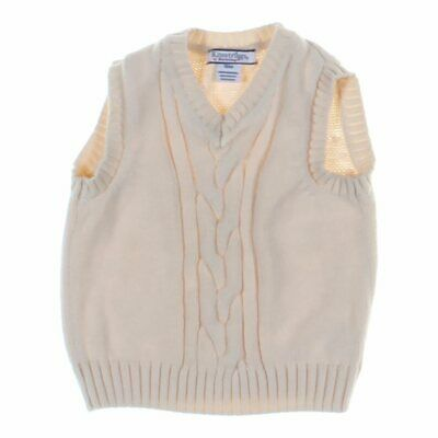 Kitestrings Baby Boys Sweater Vest, size 18 mo,  beige,  cotton