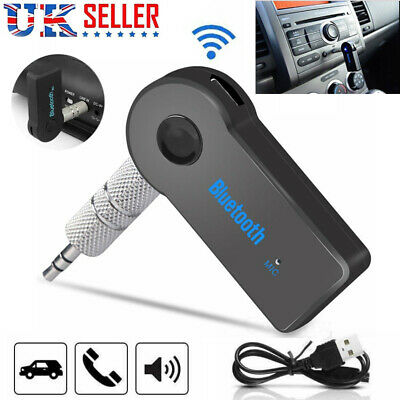 Wireless Bluetooth 3.5mm Phone To AUX Stereo Music Car Receiver Adapter with Mic