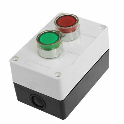 DC 12V Green Red Signal Lamp NC NO Momentary Push Button Switch Station
