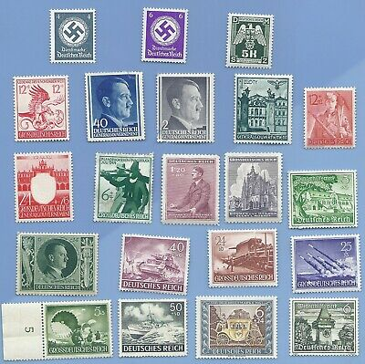 Nazi Germany Third Reich Nazi Hitler Swastika Stamp lot WW2 Era #8
