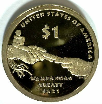 2011 S SACAGAWEA Golden Dollar Native American PRF Coin Treaties Tribal Nations