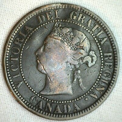 1876 H Copper Canadian Large Cent Canada One Cent Canada Coin GOOD B1