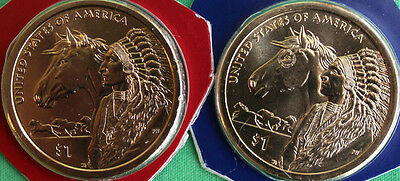 2012 P & D Sacagawea Dollar BU 2 Cello Coins Blister Pack from US Mint Set UNC