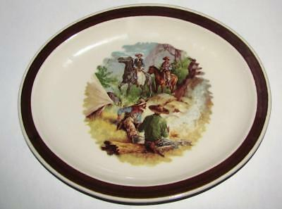 Homer Laughlin China Oval Restaurant Ware Oval Western Cowboy Plate