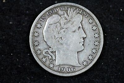 Estate Find 1906 - S Barber Half Dollar!! #h18625