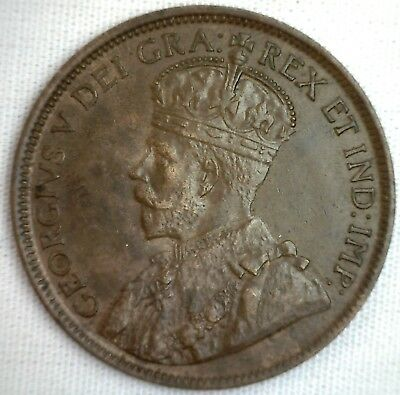1918 Copper Canadian Large Cent Coin 1-Cent Canada BN #7