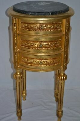 Pair Of Gold Nightstands Lxvi Style Bedside Tables