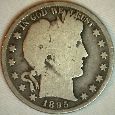 1895 Barber Half Dollar Silver US Type Coin Fifty Cent 50 Cents YG You Grade K
