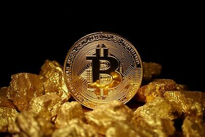 High Quality Gold Bitcoin In Protective Case Aussie Seller Free Shipping