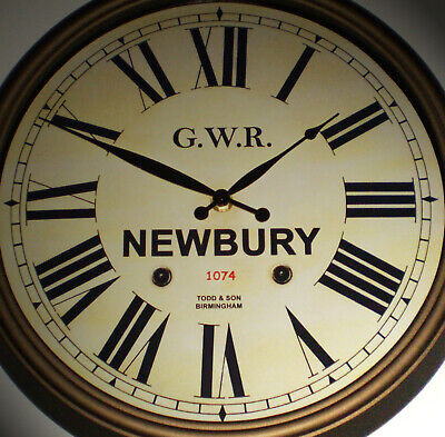 Great Western Railway GWR Victorian Style Clock, Newbury Station