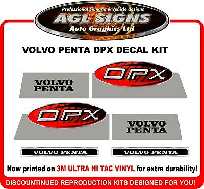 VOLVO PENTA DPX Stern Drive Replacement Decal Kit  Outdrive  DUAL PROP