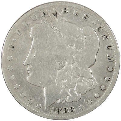 1883-CC $1 Morgan Silver Dollar Improperly Cleaned .7734 ozt
