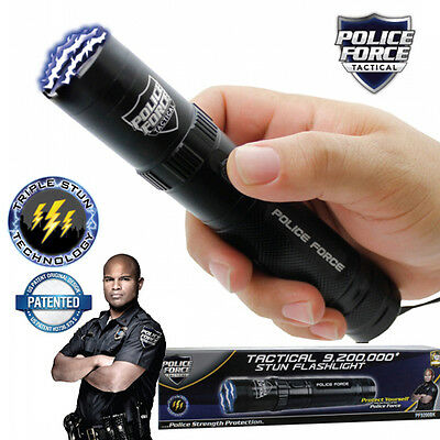 Police Force HIGH POWERED Tactical 9,200,000 Volt Stun Gun - Streetwise Black