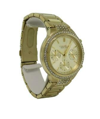 Caravelle New York 44L179 Women's Round Gold Tone Analog Chronograph Watch