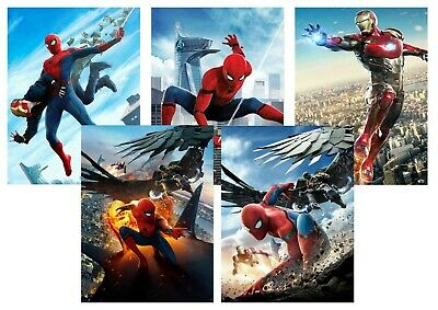 Spiderman Homecoming: Vulture, Iron man  A5 A4 A3 Textless Movie Posters