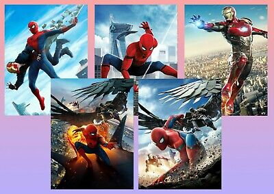 Marvel Spiderman Homecoming: Vulture, Iron man  A5 A4 A3 Textless Movie Posters