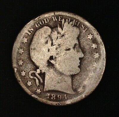 1894 S Barber Half Dollar Silver US Coin 50c EARLY DATE