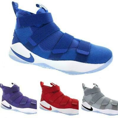 92f7d111a8ea Men s Nike LeBron Soldier XI 11 TB Promo 943155 Grey Red Blue Purple Size 14