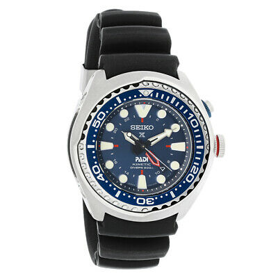 Seiko Prospex GMT Mens Kinetic Special Edition Diver Watch SUN065