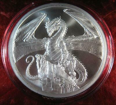 The Welsh Dragon 1 oz Silver Round #2 of World of Dragons Series Encapsulated!