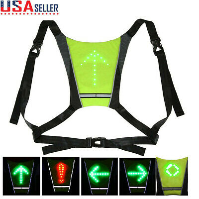 Cycling Bicycle LED Wireless Safety Turn Signal Light Vest for Riding Night Guid