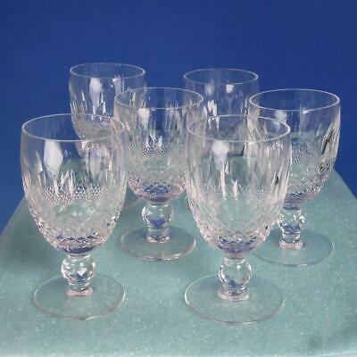 Waterford Crystal - Colleen Pattern - 6 Claret Wine Glasses - 4¾ inches