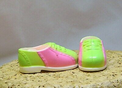 """Barbie Doll Family Stacie ? Pink & Green Sneakers 1"""" Long F106"""