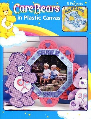 Care Bears ~ Bank Nap Sign Tissue Covers & More plastic canvas pattern book NEW