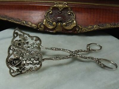 Antique Georgian Sterling Silver Heavy Very Rare Hamburg Germany Salad Tongs