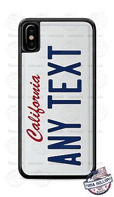 California State License Plate Custom Phone Case Cover For iPhone Samsung Google