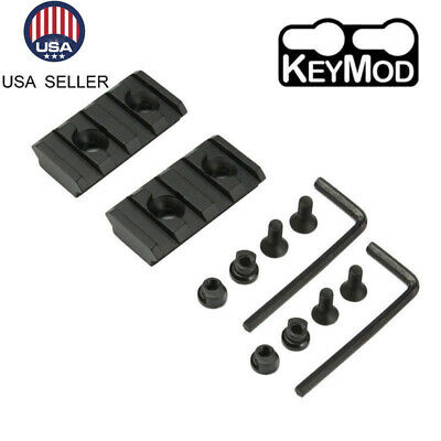 Aluminum Keymod 4 Slots 1.5 Inch Picatinny Weaver Rail Mount F Handguard Section