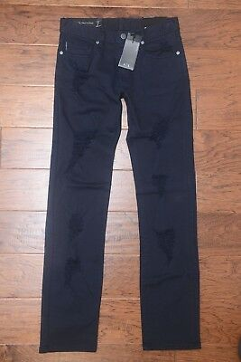 5a0dd249 ARMANI EXCHANGE A|X Men's Jambe Droite Straight Fit Stretch Cotton Jeans 28
