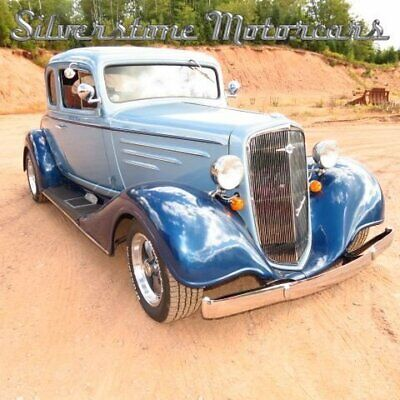 1934 Chevrolet 5-Window Coupe  1934 Two Tone Blue Street Rod Steel Fatman