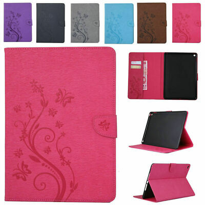 Embossing Leather Magnetic Case Cover for iPad 9.7 2017 Mini Pro 1 2 3 4 Air 1st