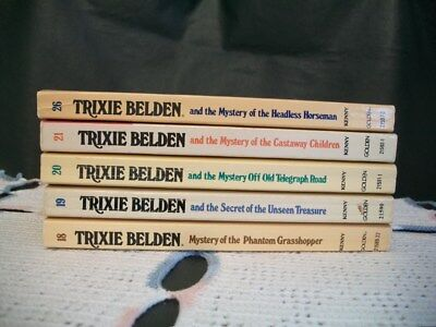 Trixie Belden Mysteries Lot of 5 Oval Paperback (18,19,20,21,26)