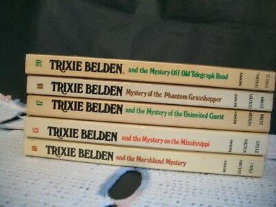 Trixie Belden Mysteries Lot of 5 Oval Paperback (10,15,17,18,20)