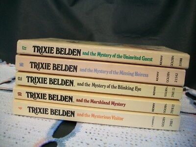 Trixie Belden Mysteries Lot of 5 Oval Paperback (4,10,12,16,17)