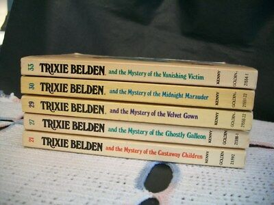 Trixie Belden Mysteries Lot of 5 Oval Paperback (21,27,29,30,33)