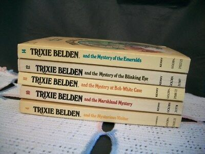Trixie Belden Mysteries Lot of 5 Oval Paperback (4,10,11,12,14)