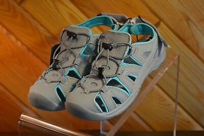 c4dd52192a9c EDDIE BAUER WOMEN S MARY GREY BUMP TOE SANDAL COLOR  GREY JADE SIZE 6 NEW W