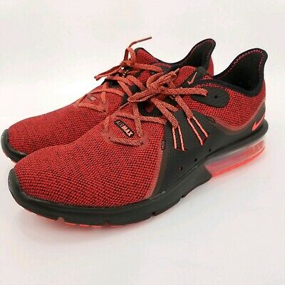 buy popular 799e7 c8fd0 Nike Air Max Sequent 3 Mens Running Shoes Sneakers 921694-066 Size 12 Red