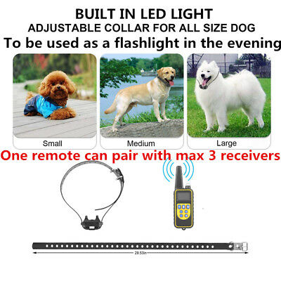 Rechargeable Remote 2625FTPet Dog Waterproof Training Collar Electric Shock LCD