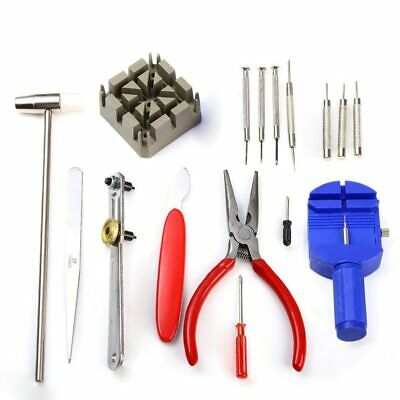 16pcs Watch Repair Kit Tool Watch Maker Opener Remover Cover Battery For Watches