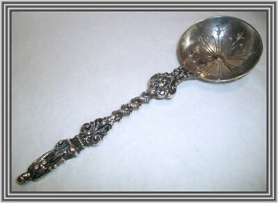"Antique English Sterling c1902 - FIGURAL 6.5"" APOSTLE HANDLE SUGAR SIFTER NR"
