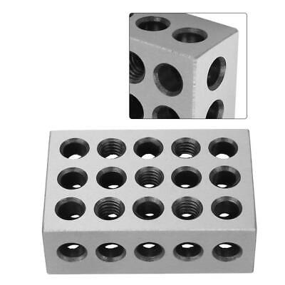 """1-2-3 BLOCK SET 0.0001/"""" PRECISION MATCHED MILL MACHINIST 123 23 HOLES New"""