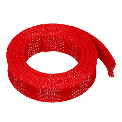 PET Cable Wire Wrap Expandable Braided Sleeving Red 3/5/8/10m Length